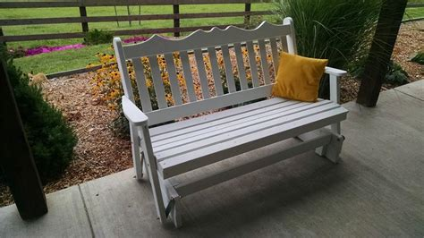 amish made outdoor furniture amish made royal outdoor glider