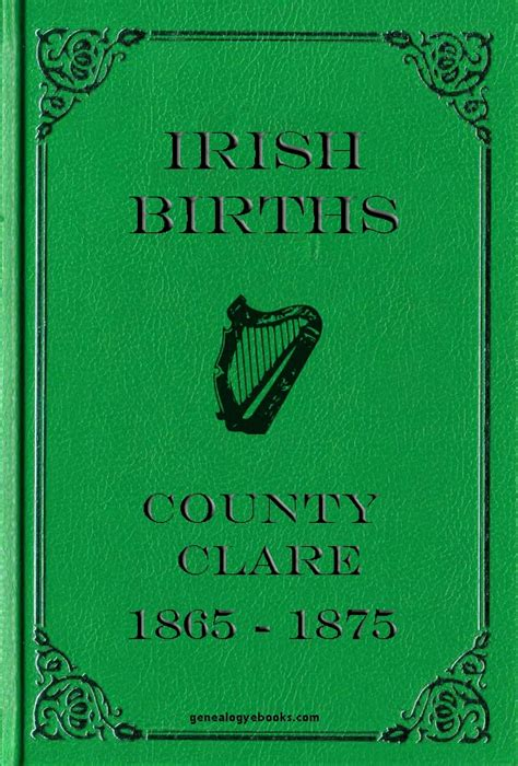 County Clare Birth Records Genealogy Ebooks Births County Clare 1865 75 M Z