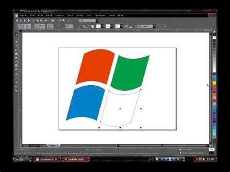 tutorial corel draw logo windows logo windows vista corel draw youtube