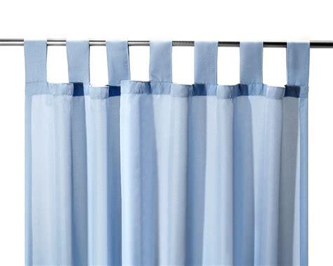 vorhang hellblau schlaufenschal vorhang gardine hellblau 140x245cm ebay