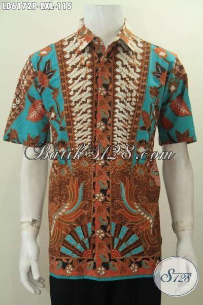 Kemeja Lengan Pendek Batik Sinaran 2 baju kemeja batik elegan lengan pendek motif sinaran baju batik halus proses printing berbahan