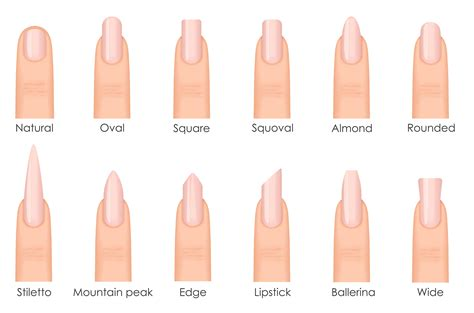 most popular nail length and shape 5 perfect nail shapes and how to achieve them livoliv