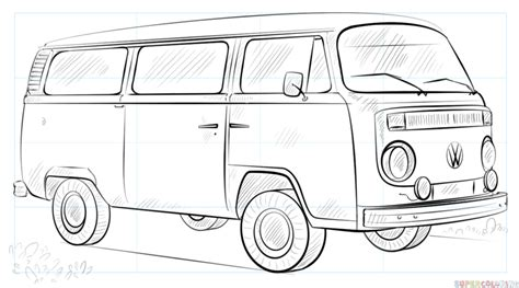 volkswagen drawing how to draw a vw by drawing tutorials