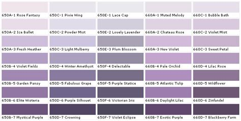lavender paint colors chart colors paint chart chip sle swatch palette color