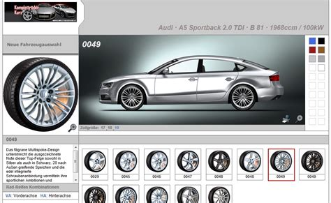 Felgenkonfigurator Audi by Audi4ever A4e Detail Lowrider 00 Ein