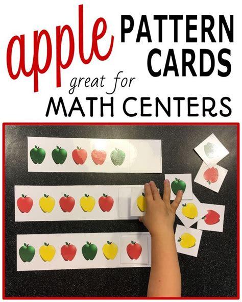 apple pattern for kindergarten patterns apple pattern cards s math activities
