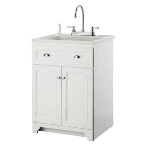 home depot garage sink foremost keats 24 in laundry vanity in white and abs sink