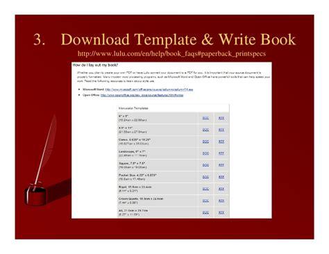 Self Publishing Using Lulu Com Lulu Book Cover Template