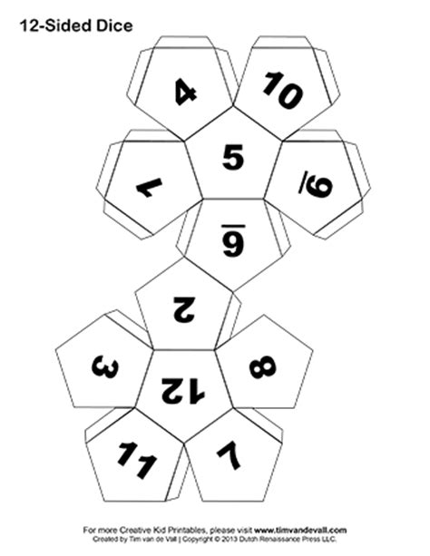 printable foldable dice printable paper dice template pdf make your own 6 10