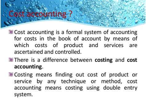 Untroduction To Cost Accounting introduction of cost and managerial accounting