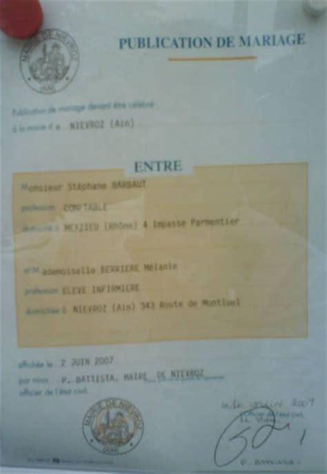 Publication Des Bancs by Publication Des Bancs Melanie Et Stephane Mariage Le 7