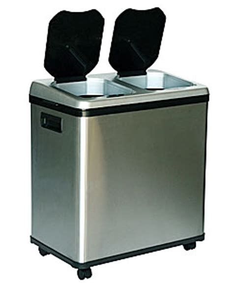Dual Kitchen Trash Can by Trash Cans Recycle Bins Itouchless 16 Gallon Dual