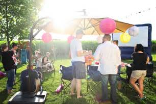 outdoor party outdoor movie party ideas movie night birthday party