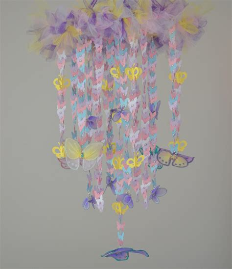 butterfly crib mobile purple pink yellow - Pink Yellow Purple Baby Shower