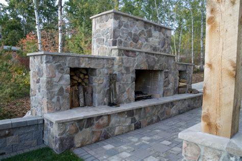 backyard stone fireplace stone fireplace design installation durham whitby