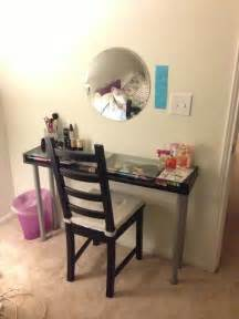 Bedroom Makeup Vanity Plans Diy Vanity Table Made From Ikea Parts Diy