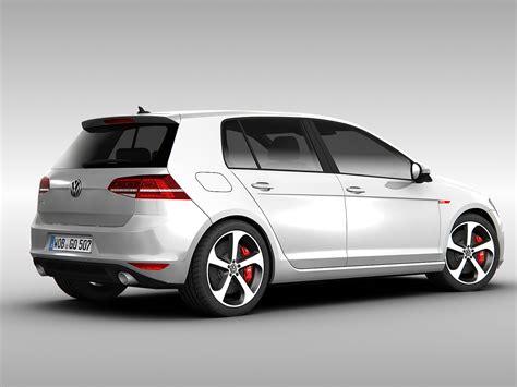 volkswagen coupe models volkswagen golf gti vii 2014 3d model max obj 3ds fbx