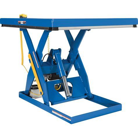 hydraulic pallet lift table vestil hydraulic lift table 4 000 lb capacity