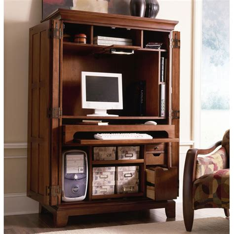 Computer Armoire Desk Cabinet Office Furniture Interesting Computer Armoire Desk Cabinet Decorations Ideas Endearing Cherry