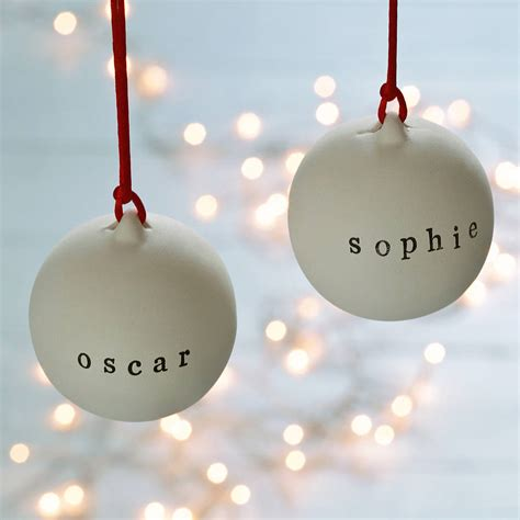 plain baubles to decorate personalised ceramic bauble by twenty seven