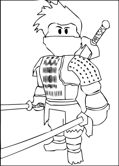 A Free Printable Roblox Ninja Coloring Page Kids Cool Shirt Coloring Pages
