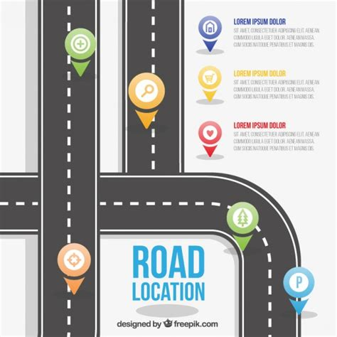 road template road location template vector free