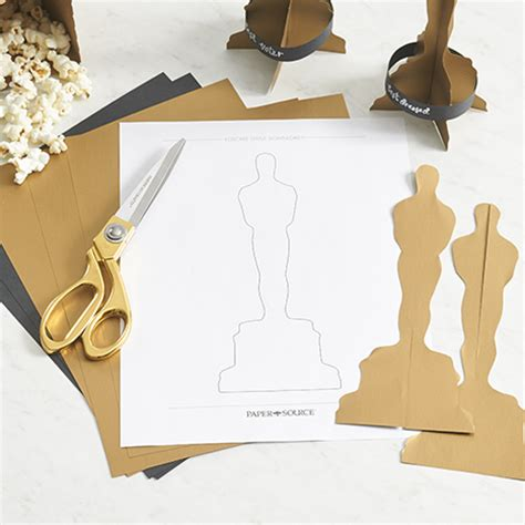 How To Make An Oscar Trophy Out Of Paper - diy an award winning oscars paper source