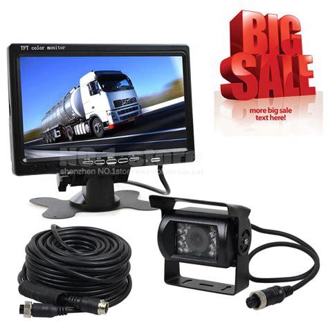 Lcd Car Monitor 12v 24v dc 7 inch tft lcd car monitor rear view monitor 4pin ir vision hd rear view