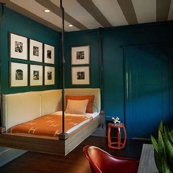 kids room with industrial hanging bed contemporary boy