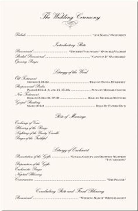 wedding ceremony program wording one page wedding ceremony programs wedding programs wedding program wording program sles program