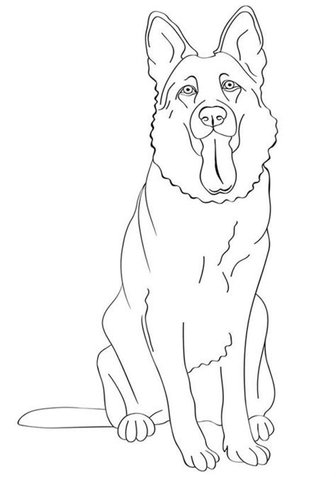 german shepherd coloring page to encourage in coloring