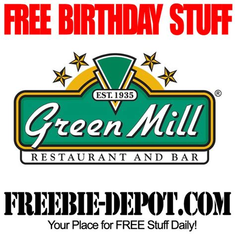 Green Mill Gift Card - birthday freebie green mill restaurant freebie depot
