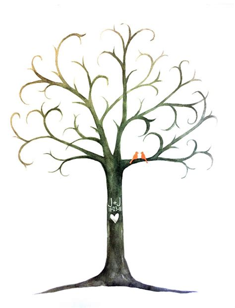 thumbprint family tree template fingerprint tree guest book template images