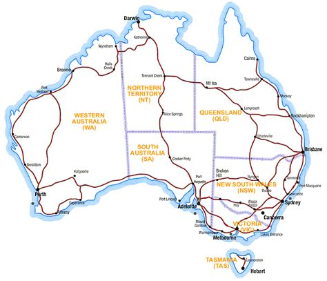 printable nsw road map australia road maps national highways