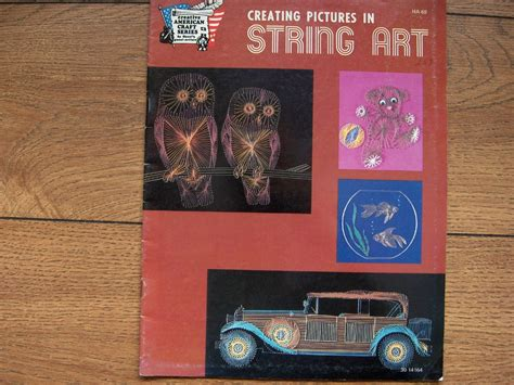 String Pattern Books - vintage 1978 string pattern book owls antique car 1928