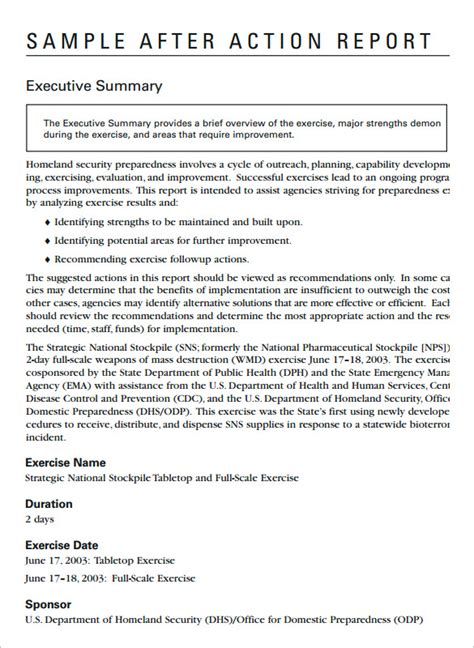 11 after action report templates free word pdf