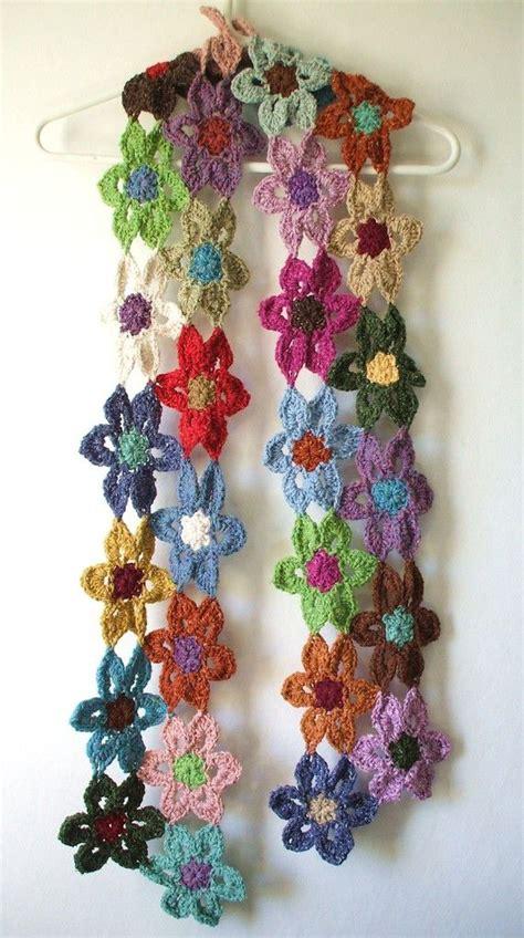 fiore uncinetto facile crochet fiore sciarpa scaldacollo tricot et crochet