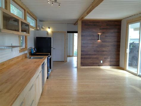 container home interior looks are deceiving at this eco friendly shipping