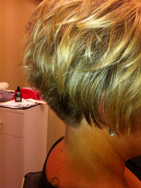 short hair like this back hair style short stacked bob