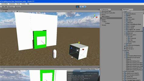 tutorial unity open door unity 3d door open with raycast youtube