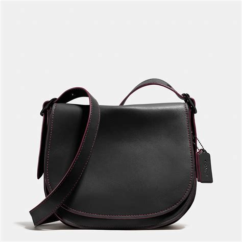 Coach Leather Saddle Black Coach Saddle Bag In Glovetanned Leather In Black Lyst