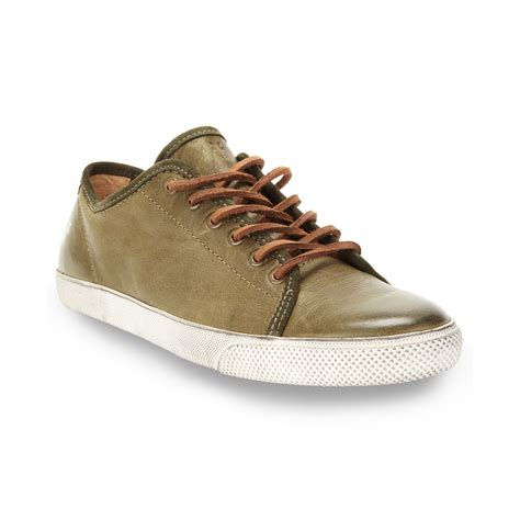 frye sneakers frye chamber low lace up sneakers in green for olive