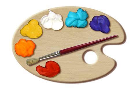 painter free creative clipart artist palette pencil and in color