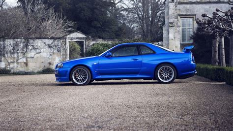 nissan blue car r34 gtr wallpapers wallpaper cave