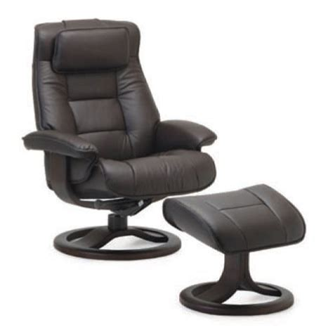 scandinavian leather recliner with ottoman fjords mustang large leather recliner and ottoman