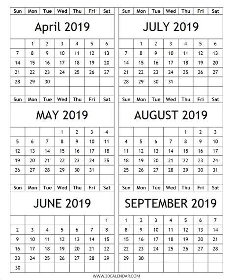 month calendar april september qualads