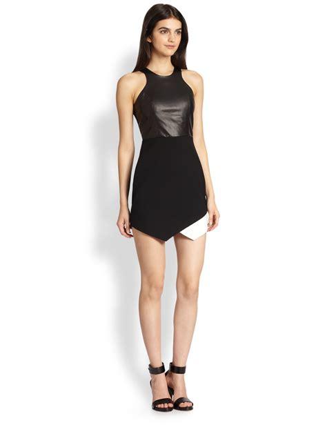 Dress Mrs Black Df by leather combo dress in black lyst