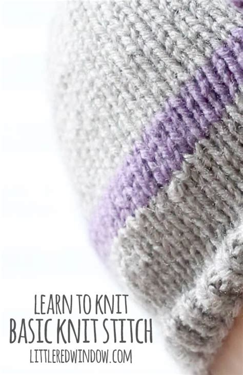 basic knit stitch learn to knit basic knit stitch window