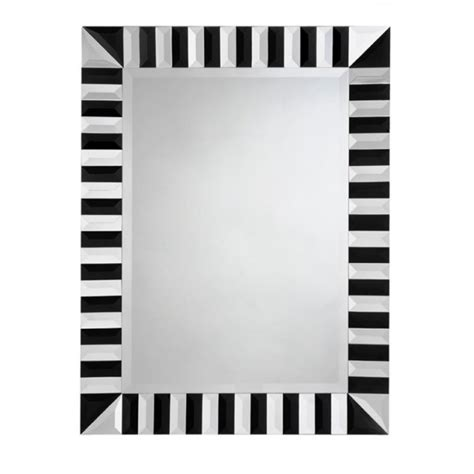 black and white mirror buy yearn glass black and mirrored deco mirror wall