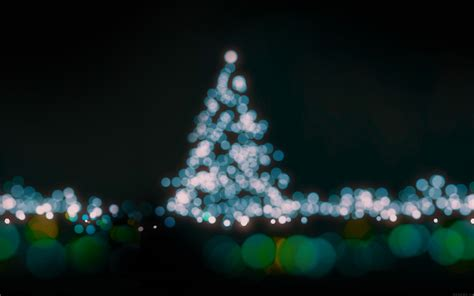 ah39 christmas lights bokeh blue love dark night